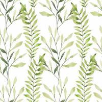 Seamless watercolor green leaf pattern