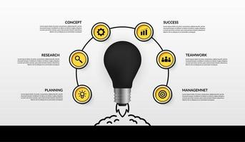 Launching light bulb business start up infographic