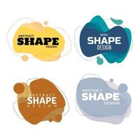 Colorful Abstract Shape Emblems