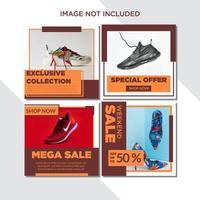 Orange Block Social Media Template Sale Set