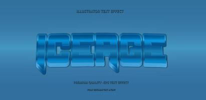 estilo de película estilo de texto azul vector