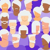Senior Citizens Background vector