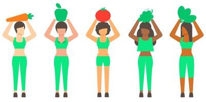Healthy Concept Woman Character
