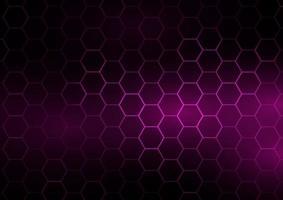 Techno banner with hexagonal design vector