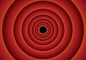 diseño circular de semitono rojo