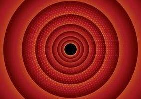 Circular red halftone design vector