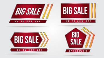Futuristic geometric sale banners vector