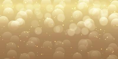 Bokeh golden lights banner design vector