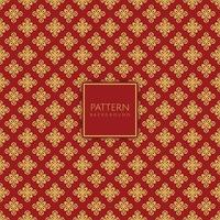 Decorative gold and red diamond pattern