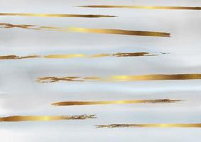 Gold and grey decorative watercolor design