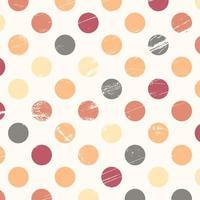 Grunge color polka dot design vector