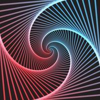 fundo abstrato ilusão de ótica de cor vetor