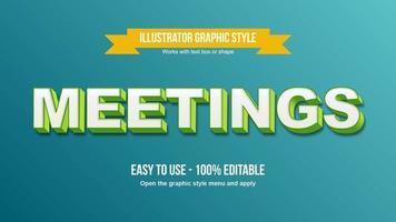 White and green 3D uppercase editable sans serif font vector