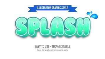 Vibrant green rounded cartoon bubble pattern text effect vector