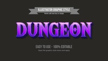 Bright purple gaming uppercase text effect