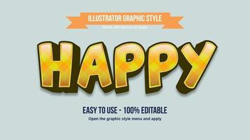 Yellow pattern 3d bold artistic font vector