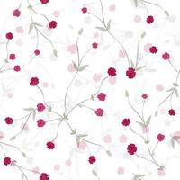 Elegant small pink bud floral seamless pattern