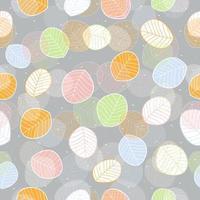 lindo patrón de hojas planas de colores