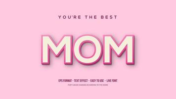 Text effect with soft pink MOM