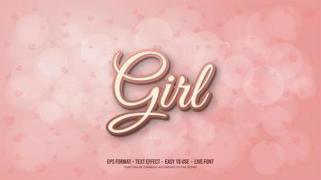 Text effect with Pink 3d writing vector