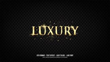 Text effect with luxurious golden writing vector