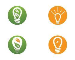 progettazione dell'illustrazione dell'icona di vettore della lampadina