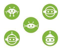 cenografia de ícones de robô vetor