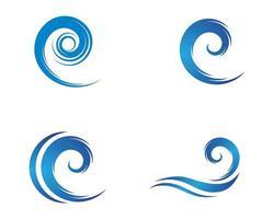 Diseño de ilustración de icono de vector de símbolo de onda
