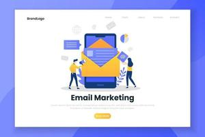 Landing page template of email marketing