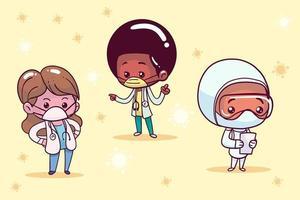 pequeños doctores establecen vector