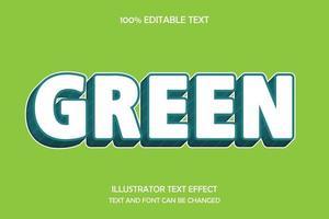 efecto de texto editable moderno verde vector