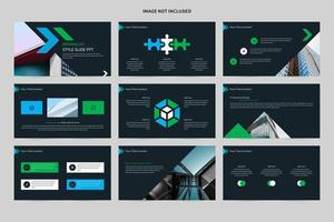 Minimalist blue and green slide set