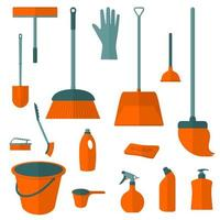 Set of Cleaning Items vector