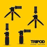 Mini Tripod Phone Holder for Mobile vector