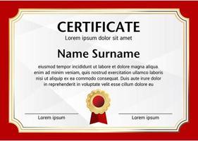 plantilla de certificado de borde rojo