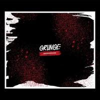 salpicadura de grunge rojo en marco blanco