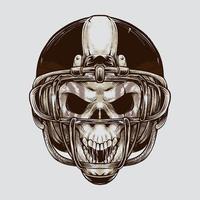 cráneo de fútbol americano vintage vector