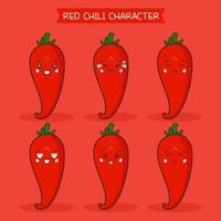 lindo conjunto de personajes de chile vector