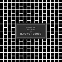 Seamless Black and White Rectangle and Square Grid vector