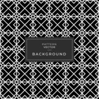 Black and white geometric diamond pattern vector