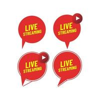 Live streaming icon set  vector