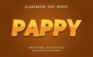 efeito de texto pappy vetor