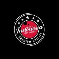 hecho en indonesia sello de calidad vector