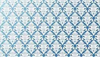 Ornate Filigree Blue Wallpaper