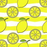 patrón de frutas de limón vector