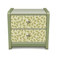 Bedside Table with a Pattern vector