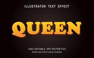 efeito de texto rainha vetor