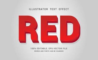 efecto de texto en negrita roja vector