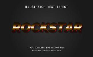 efecto de texto editable rockstar vector