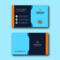 Bold Corporate Business Card Design Template vector